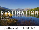 destination direction place... | Shutterstock . vector #417033496