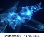 abstract blue background hi... | Shutterstock . vector #417037318