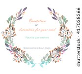 circle frame  wreath of the... | Shutterstock . vector #417038266