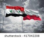 3d illustration of syria  ... | Shutterstock . vector #417042208