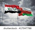 3d illustration of syria   oman ... | Shutterstock . vector #417047788