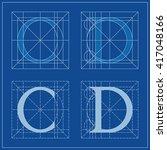 designing initials  letters c... | Shutterstock .eps vector #417048166