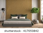 bedroom interior. 3d... | Shutterstock . vector #417053842