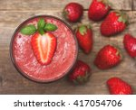 Smoothie With Strawberries In ...