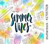 summer vibes   summer... | Shutterstock .eps vector #417057028