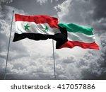 3d illustration of syria  ... | Shutterstock . vector #417057886