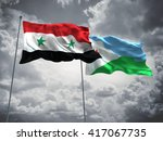 3d illustration of syria  ... | Shutterstock . vector #417067735
