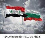 3d illustration of syria  ... | Shutterstock . vector #417067816
