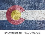 usa and colorado state flag... | Shutterstock . vector #417070738