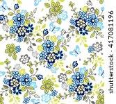 cute seamless floral pattern... | Shutterstock .eps vector #417081196