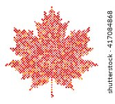 maple leaf isolated dot... | Shutterstock .eps vector #417084868
