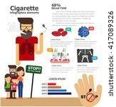 cigarette concept. infographics ... | Shutterstock .eps vector #417089326