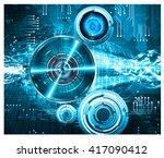 blue abstract hi speed internet ... | Shutterstock .eps vector #417090412