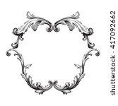 vintage baroque frame scroll... | Shutterstock .eps vector #417092662