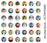 people icons | Shutterstock .eps vector #417093385