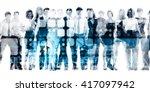 developing workforce or develop ... | Shutterstock . vector #417097942