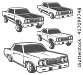 set of low rider cars low rider ...   Shutterstock .eps vector #417099748