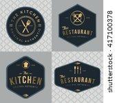 set of badges  banner  labels... | Shutterstock .eps vector #417100378