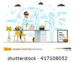 innovation business style in... | Shutterstock .eps vector #417108052