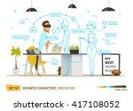 innovation business style in... | Shutterstock .eps vector #417108052
