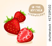 strawberry   fruit isolated set ...   Shutterstock .eps vector #417109102