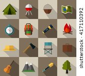 camping icons collection on... | Shutterstock .eps vector #417110392