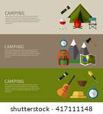 camping banners collection.... | Shutterstock .eps vector #417111148
