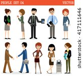 set of people at office.... | Shutterstock .eps vector #417111646