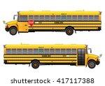school bus  vector illustration.... | Shutterstock .eps vector #417117388
