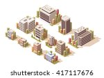vector isometric icon set or... | Shutterstock .eps vector #417117676