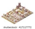 vector isometric infographic... | Shutterstock .eps vector #417117772
