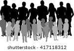 group of people. crowd of... | Shutterstock .eps vector #417118312