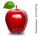 ripe red apple isolated on a... | Shutterstock . vector #417125722