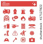icons set  emergency icons set