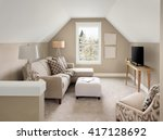 beautiful small living room... | Shutterstock . vector #417128692