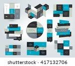 set of infographics elements ... | Shutterstock .eps vector #417132706