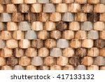 abstract  brown wood texture... | Shutterstock . vector #417133132