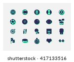 sport icon set vector. | Shutterstock .eps vector #417133516