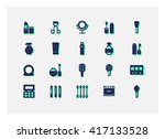 cosmetic icons vector.   Shutterstock .eps vector #417133528