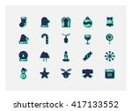 christmas icon set vector.   Shutterstock .eps vector #417133552