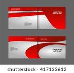 vector empty brochure template...   Shutterstock .eps vector #417133612