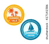 summer sale and offer banners... | Shutterstock . vector #417141586