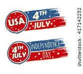 usa independence day and 4th of ... | Shutterstock . vector #417142252