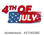 4th of july with stars over... | Shutterstock .eps vector #417142282