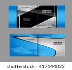 vector blue brochure template... | Shutterstock .eps vector #417144022