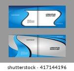 blue brochure design  | Shutterstock .eps vector #417144196