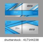 vector blue brochure template... | Shutterstock .eps vector #417144238