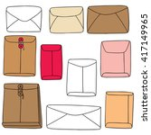 vector set of envelope | Shutterstock .eps vector #417149965