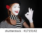 Portrait Of A Happy Mime...