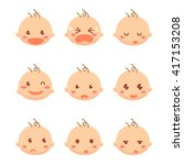 set of baby emoticons. | Shutterstock .eps vector #417153208